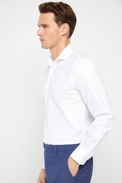 Cortefiel Slim fit stretch dress shirt White