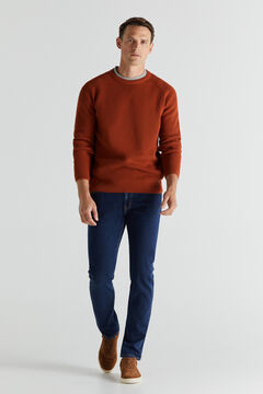 Cortefiel Slim fit extra soft light wash jeans Navy