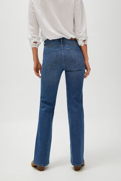 Cortefiel Cropped bell-bottom jeans Blue jeans