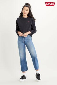 Cortefiel Basic Levi's® logo sweatshirt Black