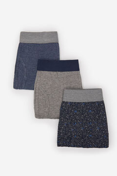 Cortefiel 3-pack cotton boxers Gray