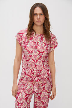 Cortefiel Pleated knot top Natural