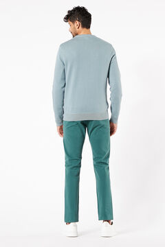 Cortefiel Round neck cotton Dockers® jumper Dark green