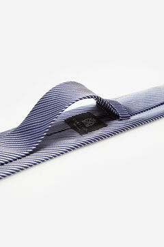 Cortefiel Striped stain-resistant tie Navy
