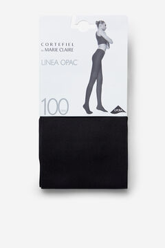 Cortefiel Opac 100D Tights Black