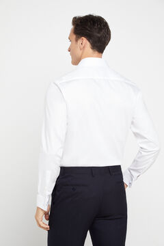 Cortefiel Plain tailored dress shirt with cufflinks White