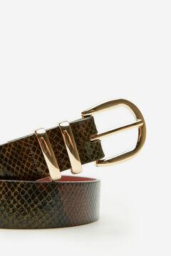 Cortefiel Belt with metal loops Plum