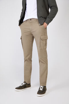 Cortefiel Slim fit cargo trousers  Dark gray