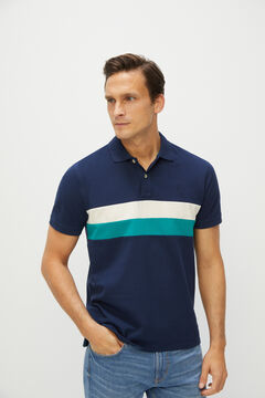 Cortefiel Short-sleeved polo shirt Turquoise
