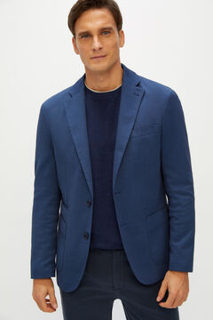 Cortefiel Coolmax® jersey-knit blazer Royal blue