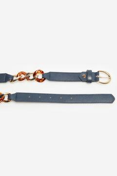 Cortefiel Tortoiseshell chain belt Navy
