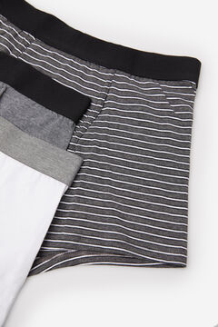 Cortefiel 3-pack cotton boxers Black