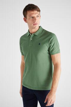 Cortefiel Essential short-sleeved polo shirt Green