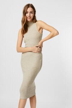 Cortefiel Jersey-knit midi dress Camel