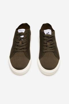 Cortefiel Recycled fabric sneaker Dark gray