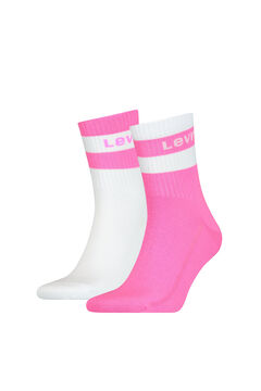 Cortefiel Neon striped ankle Levi's® socks pack Pink