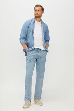 Cortefiel Regular medium wash jeans Light blue