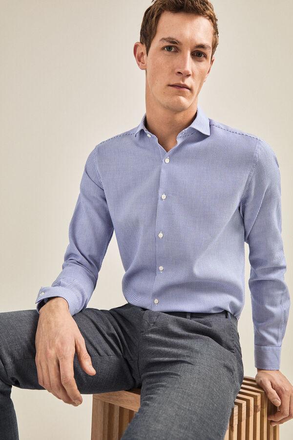 a99d3e02b Cortefiel Camisa riscas Azul