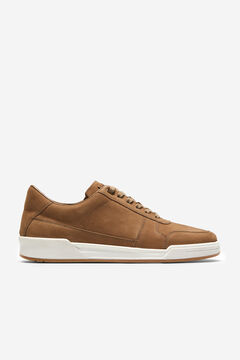 Cortefiel Leather basketball sneakers Mole