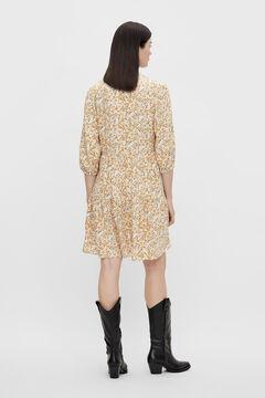 Cortefiel Vestido corto estampado Amarillo