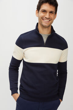 Cortefiel Turtleneck sweatshirt Navy