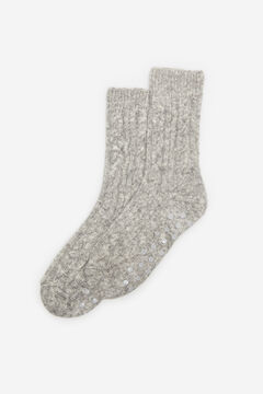 Cortefiel Non-slip socks Grey