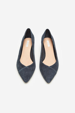 Cortefiel Leather court shoe Navy
