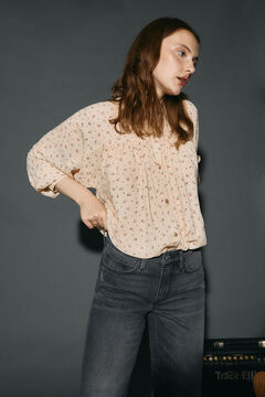 Cortefiel Flowing blouse Ecru