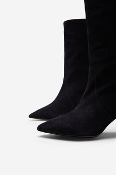 Cortefiel Leather calf-length boot Navy