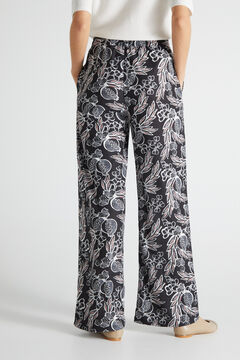 Cortefiel Printed jersey-knit trousers Natural