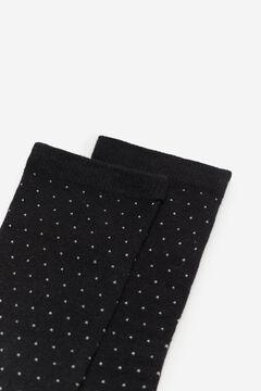 Cortefiel Mini polka-dot socks Black