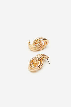 Cortefiel Knot earrings Beige