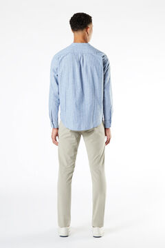 Cortefiel Dockers® COTTON HEMP BAND COLLAR SHIRT Light blue