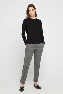 Cortefiel Jersey-knit trousers Natural