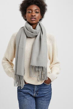 Cortefiel Recycled polyester scarf  Gray