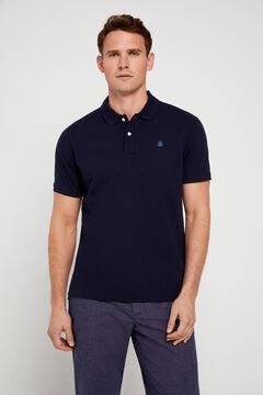 Cortefiel Short-sleeved logo polo shirt Navy
