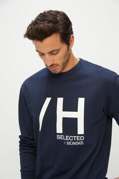 Cortefiel Men's logo sweatshirt Royal blue