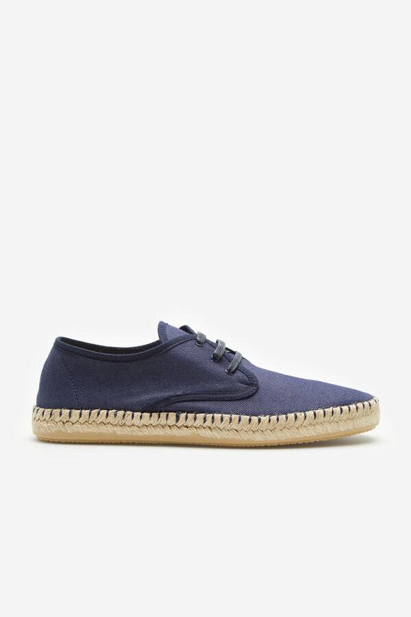 78ba2c251 Cortefiel Sapato têxtil atacadores juta Azul