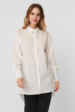 Cortefiel Long shirt  White