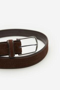 Cortefiel Plain casual belt Dark brown