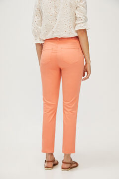 Cortefiel 5-pocket skinny trousers Orange