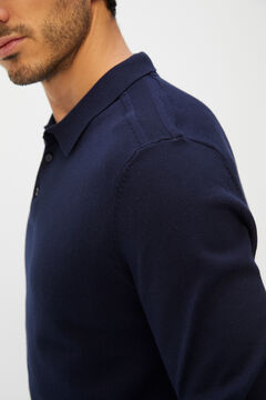 Cortefiel Men's polo shirt jumper Navy