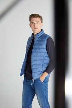 Cortefiel Ultralight quilted gilet Royal blue