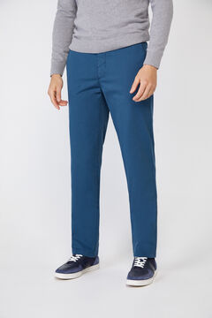 Cortefiel Essential classic fit lightweight chinos Royal blue