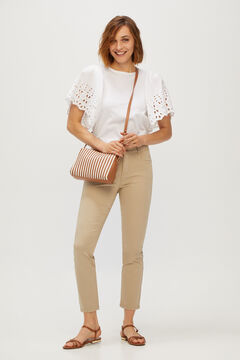 Cortefiel 5-pocket skinny trousers Beige