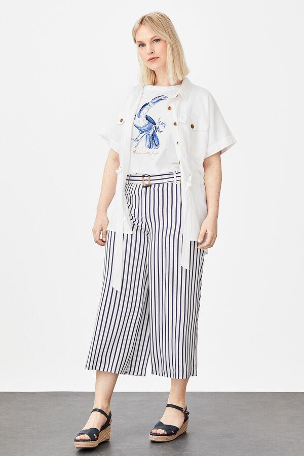 f02348d64 Cortefiel Camiseta estampada algodón orgánico Beige