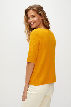 Cortefiel Organic cotton jumper Yellow