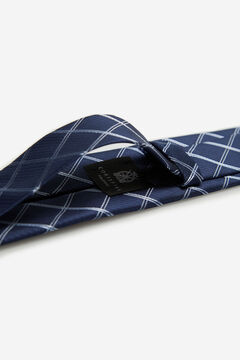 Cortefiel Checked tie Navy