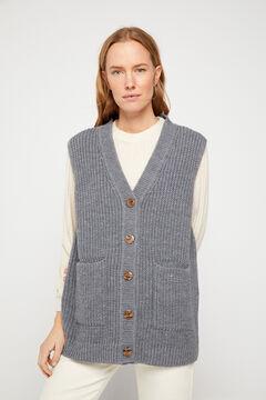 Cortefiel V-neck vest Gray