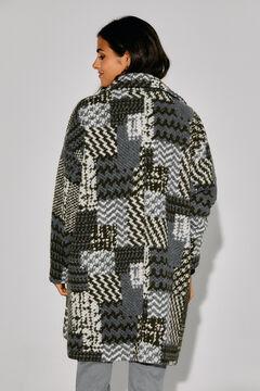 Cortefiel Soft fabric overshirt-style coat Green